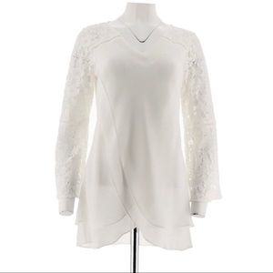 Hot in Hollywood Goddess Lace Blouse Size Large